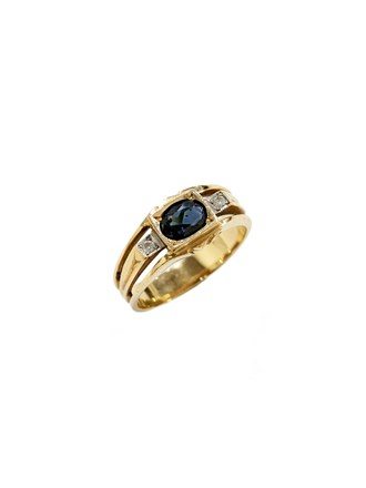"""Кольцо Золото 585"""" Бриллианты Сапфир"""