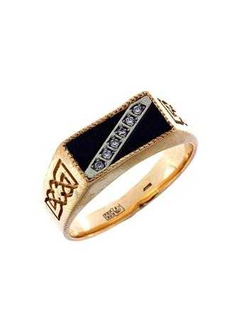 Перстень Оникс Фианиты