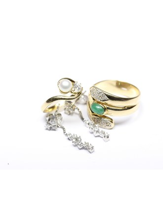 Ювелирные украшения Золото 585 Бриллианты,жемчуг