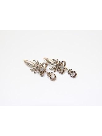 """Серьги Золото 500"""" Бриллианты Алмазные розы"""