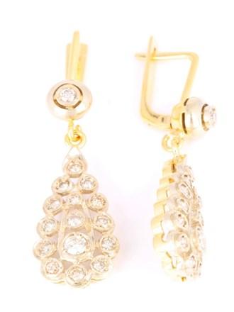 Серьги бриллианты