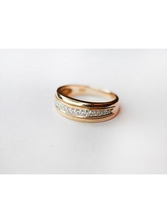 Кольцо с бриллиантами золото 585