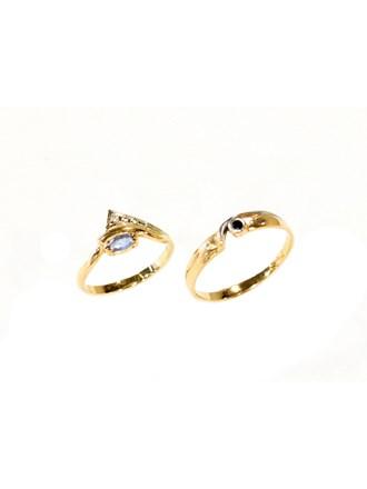 """Кольца Золото 585"""" Фианиты Топазы"""