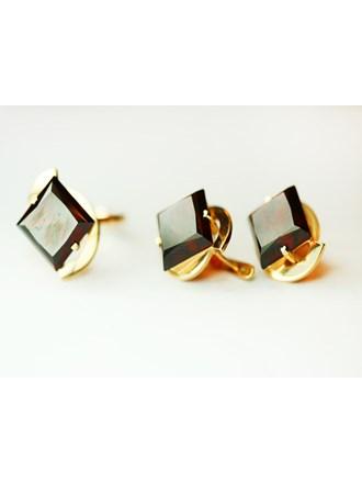 Комплект серьги пара и кольцо Золото 585