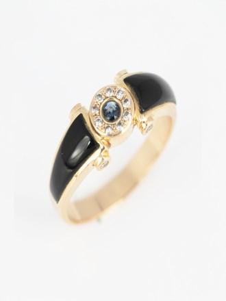 Перстень мужской бриллианты, сапфир, эмаль