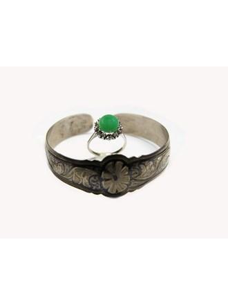 Кольцо Золото 585 Бриллиант хризопраз