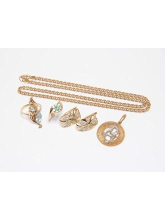Ювелирные украшения Золото 585  Фианиты