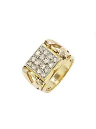 Кольцо с алмазными розами