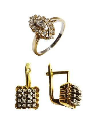 Серьги и Кольцо Бриллианты
