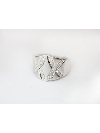 "Кольцо с бриллиантами Белое Золото 585"""