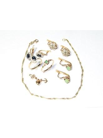 """Набор ювелирных изделий Золото 585"""" Бриллианты Сапфиры"""