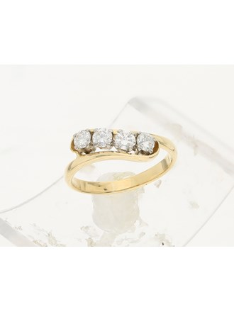 Кольцо с бриллиантами золото, 750