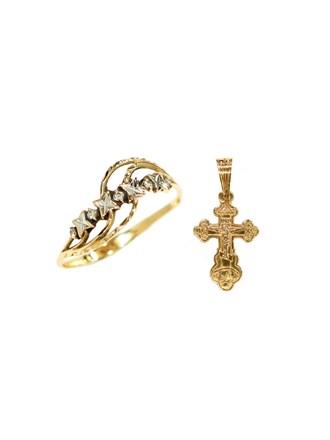 """Кольцо Крест Золото 585"""""""