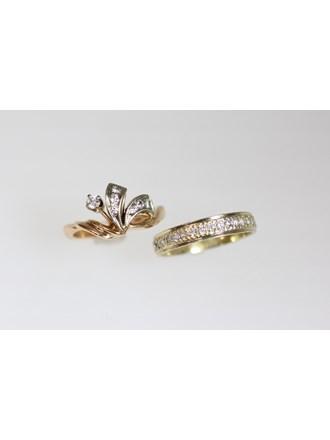 Кольца Золото 585  Золото 750 Бриллианты
