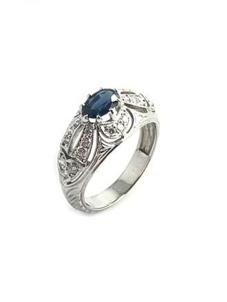 Кольцо сапфир, бриллианты