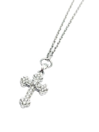 "Колье ""крест"" с бриллиантами"