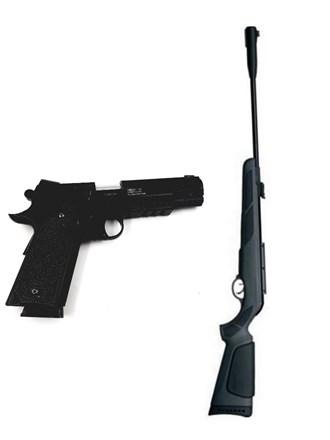 Пневматические винтовка и пистолет