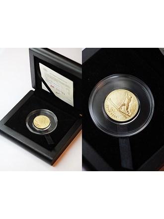 """Монета Сочи 2014 год 50 рублей Золото 999"""""""