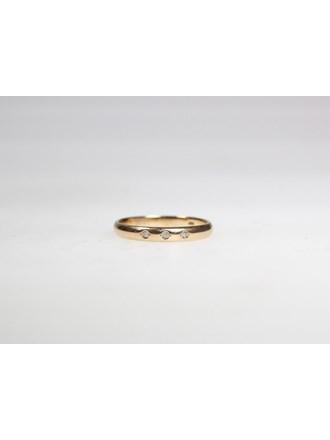 Кольцо с вставками. Золото 585.