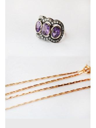 Цепочка и кольцо Золото 585