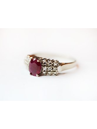 "Кольцо Золото 585"" Бриллианты Рубин"