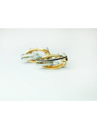 Серьги с бриллиантами Золото 585
