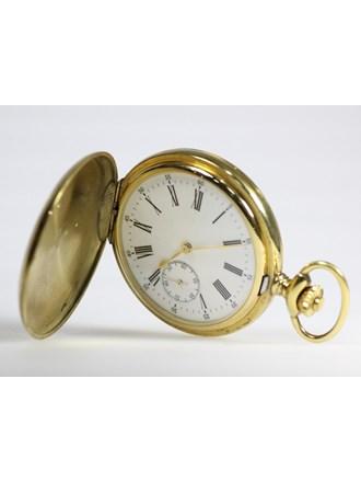Часы карманные с эмалью. Серебро 925