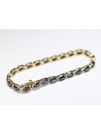 Браслет бриллианты сапфиры золото 585