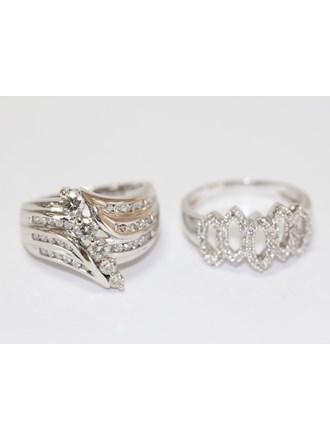 "Два Кольца Золото 585"" Бриллианты"