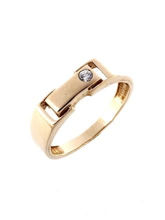 Перстень с фианитом
