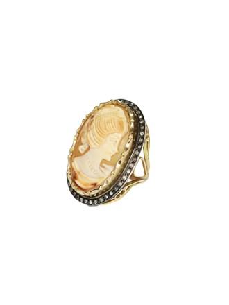 """Кольцо Золото 585"""" Бриллианты Камея на раковине"""