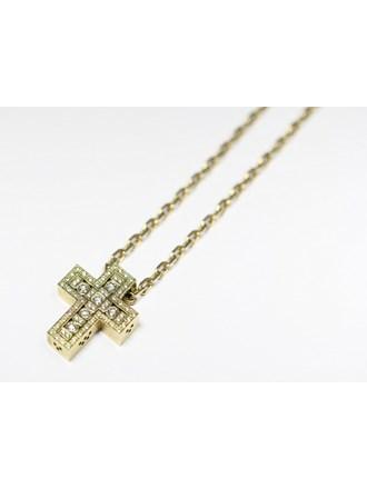 Цепь Крест бриллианты золото 585