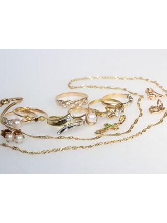 """Ювелирные украшения Золото 585""""  Фианиты Жемчуг"""
