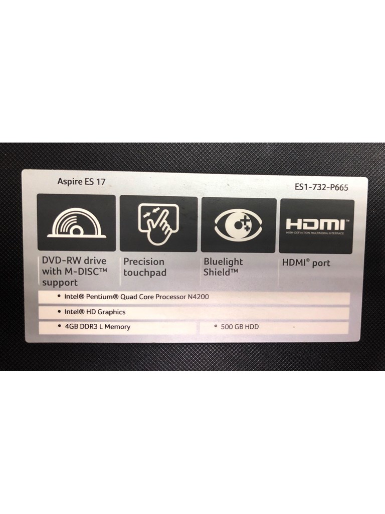 Ноутбук Acer Aspire ES 17