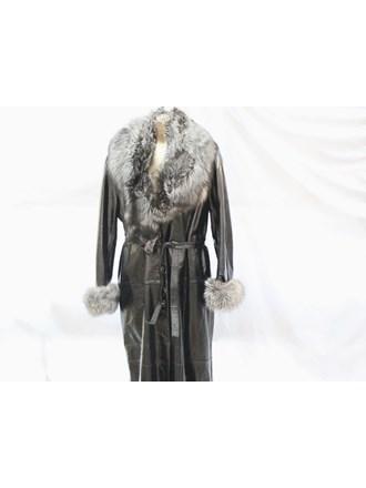 Пальто женское Кожа лакированная