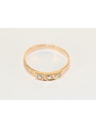 """Кольцо Золото 585"""" Алмазные Розы"""