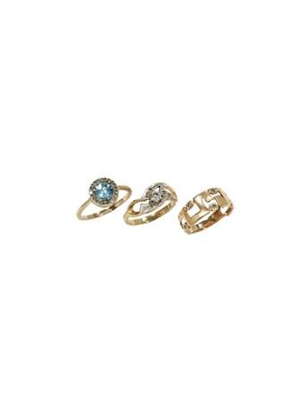 """Кольца Золото 585"""" Бриллианты Топаз Фианиты"""