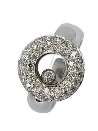 Кольцо с плавающим бриллиантом
