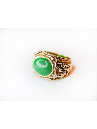 """Кольца 2 шт. Изумруд Синтетический камень Золото 585"""""""