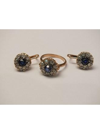 Кольцо Серьги золото 583