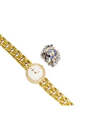 "Часы LONGINES Кольцо Золото 750"" Бриллианты Сапфиры"