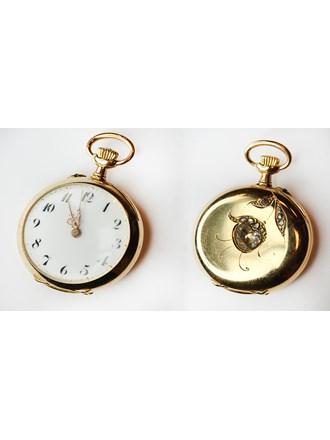 """Часы карманные маленькие Бриллианты Золото 750"""""""