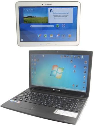 Ноутбук и планшет