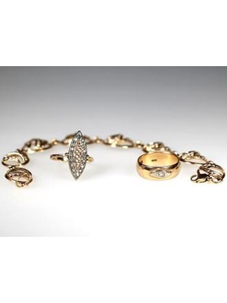 Ювелирные украшения Золото 585 Бриллианты, фианиты