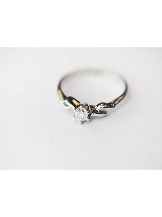 """Кольцо с бриллиантом Золото Белое 585"""""""
