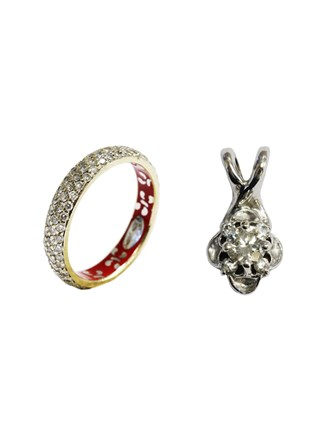 Кольцо и Кулон Бриллианты