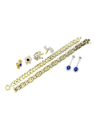 """Ювелирные украшения Золото 585"""" Бриллианты Сапфиры"""