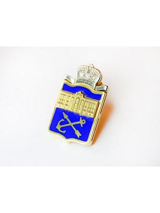 """Значок Бриллианты Эмаль Золото 750"""""""