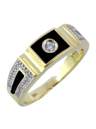 Перстень Бриллианты Эмаль