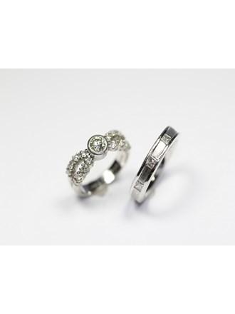 Два кольца бриллианты платина 900